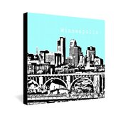 Bird Ave Minneapolis Gallery Wrapped Canvas