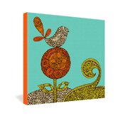 Valentina Ramos Bird In The Flower Gallery Wrapped Canvas