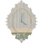 Cori Dantini Blue and White Stripes Clock