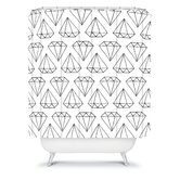 Wesley Bird Diamond Print Shower Curtain