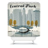 Anderson Design Group Central Park Snow Shower Curtain