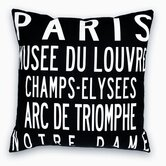 Paris Landmarks Pillow