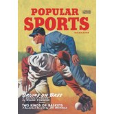 Popular Sports Bruins on Base Vintage Advertisement on Canvas