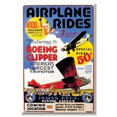 Airplane Rides Inman Bros. Flying Circus Vintage Advertisement on Canvas