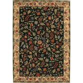 Gallery Italian Garden Black Rug