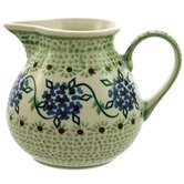Green Floral Medium Hand-Decorated Medium Jug