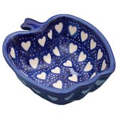 Love Hearts 5.08cm Hand-Decorated Apple Dish