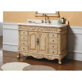 "Parchment 48"" Single Bathroom Vanity"