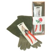 Rose Lover Glove with Pruner Gift Set