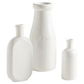 3 Piece Farmhouse Pantry Bottle Bud Vase Set