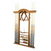 Deluxe Wall Pool Cue Rack