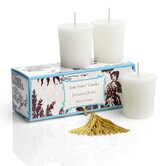 Classic Toile Japanese Quince Votive Candle Set