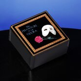 Phantom of the Opera Mask and Rose Glass Music Box