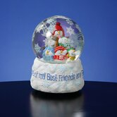 "Snowman ""Best Friends Are Flakes"" Snow Globe"