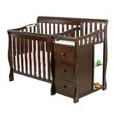 Jayden Three in One Convertible Portable Crib with Changer in Espresso