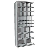 Hi-Tech Metal Bin Shelving Add-on Unit (12) 9&quot; W x 9&quot; H, (6) 6&quot; W x 9&quot; H, (12) 6&quot; W x 6&quot; H, (6) 12&quot; W x 12&quot; H, (2) 18&quot; W x 12&quot; H Bins