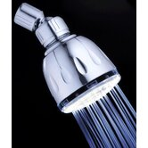 Fading Color Fixed LED Illuminated Shower Head