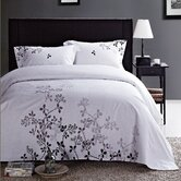 Ravel 100% cotton embroidered 3 piece  duvet cover set