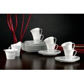 Top Life Ascoli Black 20 Piece Coffee Set