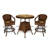 Lexington 3 Piece Bar Height Dining Set