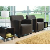 Jenny™ Leather Club Lounge Chair and Table Kit