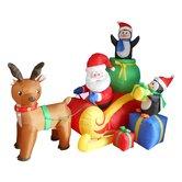 santa with reindeer