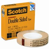 "665 Double-Sided Office Tape, 1/2"" x 25 Yards, 1"" Core, Clear"
