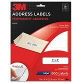 "Address Labels,Inkjet Paper,1""x4"",500/PK,White"