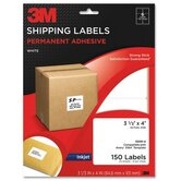 "Shipping Labels,Inkjet Paper,3-1/3""x4"",150/PK,White"