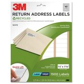 "Address Labels,Permanent,Laser/Inkjet,2/3""x1-3/4"",1500/PK,WE"