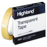 "Transparent Tape, 3/4""x2592, 3"" Core, Clear"