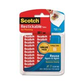 Scotch Pre-cut Squares Mounting Tabs (27 Per Pack)