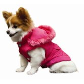 Reversible Hooded Parka Dog Coat
