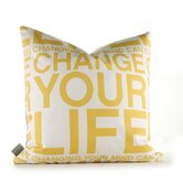 Change Your Life Pillow in Sunflower