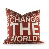 Change the World Pillow in Scarlet