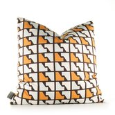 Estrella Faux Houndstooth Pillow in Sunshine
