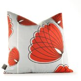 Aequorea Lotus Pillow in Silver and Scarlet