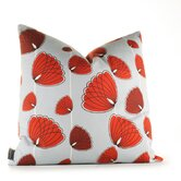 Aequorea Floating Lotus Pillow in Silver and Scarlet