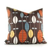 Aequorea Carousel Pillow in Chocolate and Cornflower