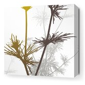 Morning Glory Prairie Stretched Wall Art in Olive and Charcoal