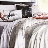 Morning Glory Organic Bedding Collection in Silver