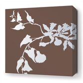 Morning Glory Stretched Wall Art in Chocolate