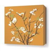 Ailanthus Stretched Wall Art in Sunshine