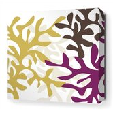 Reef Stretched Wall Art in Plum