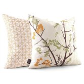 Ailanthus Throw Pillow in Wheat