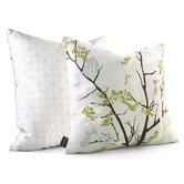 Ailanthus Throw Pillow in Sky