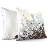 Foliage Throw Pillow in Aqua