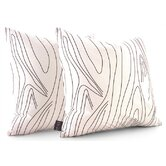Madera Throw Pillow in White