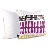 Plankton Throw Pillow in Plum