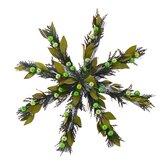Regal Peacock Star Wreath